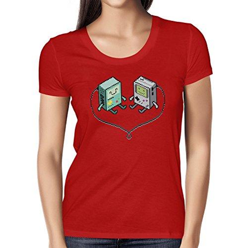 TEXLAB - Handheld Love - Damen T-Shirt Rot
