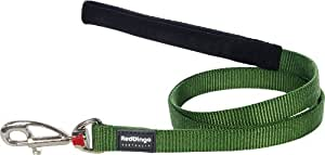 Red Dingo Plain Green Dog Lead (20 mm x 1.2m)