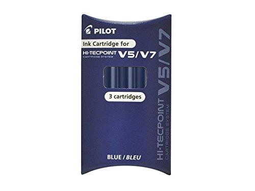 SET 3 REFILL ROLLER HI-TECPOINT V5-V7 RICARICABILE BLU BEGREEN PILOT