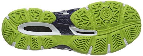 Asics Gel-netburner Ballistic, Herren Volleyballschuhe Blau (navy/silver/electric Blue 5093)