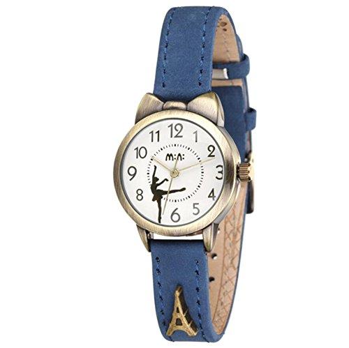 fq-234cinturino in pelle blu con fiocchi Kitty design studenti ragazze donna orologi da polso al quarzo