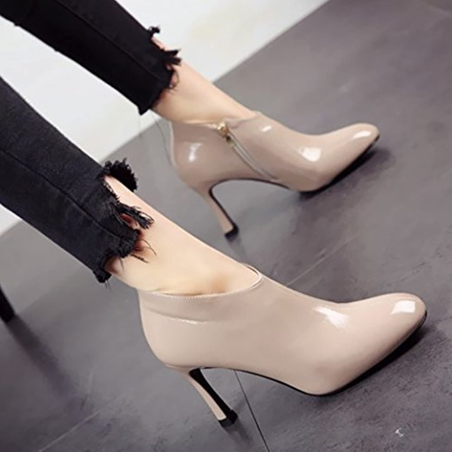 e6758f82e35c FLYRCX Ladies  retro simple and and and elegant fashion and elegant single  shoe high heel party shoes B07BKW8XCK Parent 348c9c