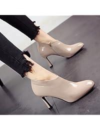 FLYRCX Las damas retro moda elegante y sencilla y elegante zapato único partido zapatos de tacón,39,b