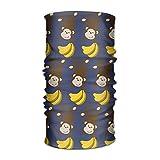 Wfispiy Monkey Banana Pattern Women&Men Neck Gaiter Magic Headwear Headband Face Bandana Mask Sport Scarf Neckwarmer Headwrap 12 in 1 Multi Function