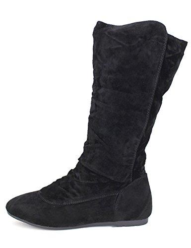Cendriyon Botte Feutrine Noire Doilys Chaussures Femme