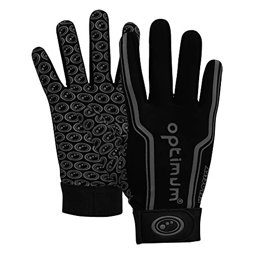 Optimum Unisex-Youth Senior Velocity Rugbyhandschuhe, Black, XXS