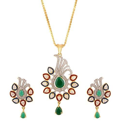 swasti-jewels-americano-diamante-pavone-cz-zircon-fashion-set-di-gioielli-orecchini-pendenti-verde-p
