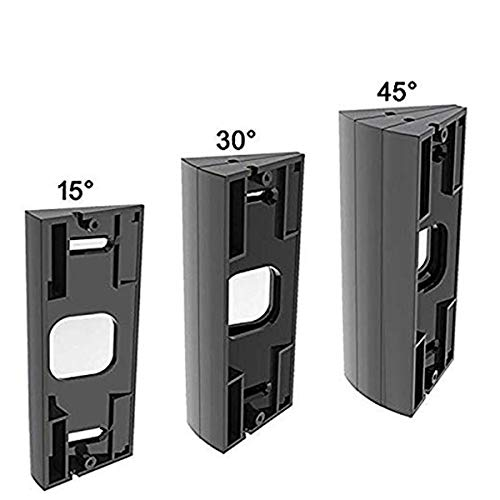 Adjustable Ring Doorbell Pro Angle Mount (3 Packs), CAVN Video Doorbell Corner Kit Angle Adjustment Adapter Mounting Plate Bracket Wedge Kit for Ring Doorbell Pro, Black