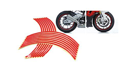 Pegatinas Llantas Autoadhesivas Moto Coche Color Rojo