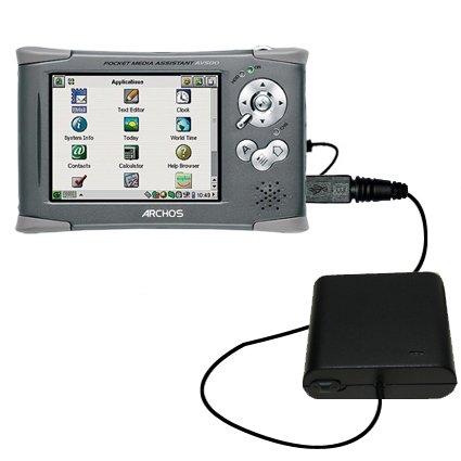 Pma-ladegerät (Tragbares Notfall-Batterieladegerät AA kompatibel mit Archos PMA 400 Mit TipExchange Technologie)