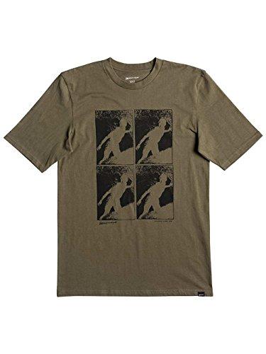 Herren T-Shirt Quiksilver Topanga Trippin T-Shirt Olive Night