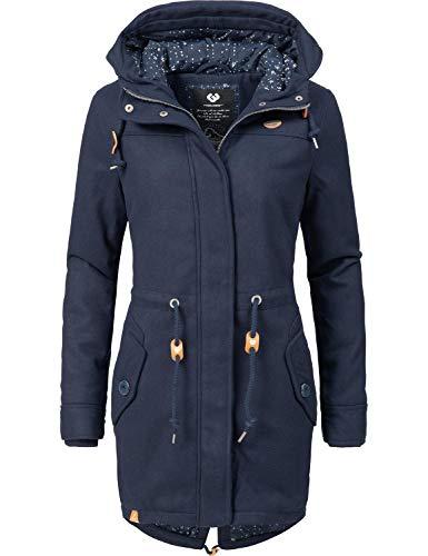 Ragwear Damen Wintermantel Winterparka Elba Coat A Blau Gr. L
