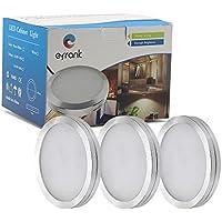 Efrank LED Sotto Cabinet Kit di Illuminazione, 3 Deluxe Kit, Totale di 7.2 Watt, 600lm, (Bianco Caldo)