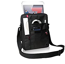 V7 Premium Messenger Bag - Schultertasche für Webtablet - 300D Polyester - Schwarz - für Apple iPad 2