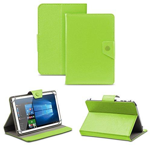 NAUC Universal Tasche Schutz Hülle Tablet Schutzhülle Tab Case Cover Bag Etui 10 Zoll, Tablet Modell für:Blaupunkt Endeavour 1001, Farben:Grün mit Magnetverschluss
