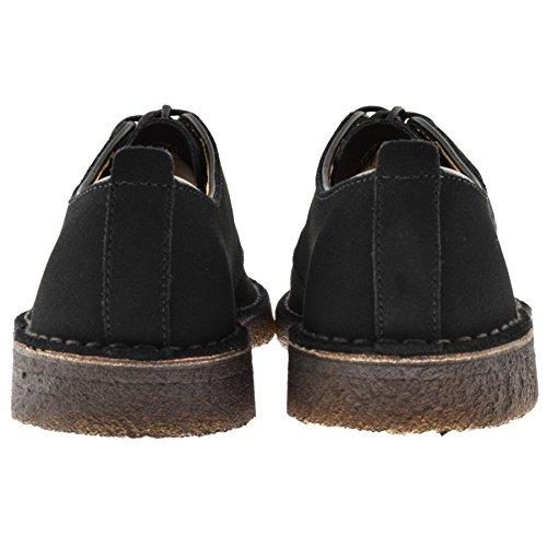 hommes Clarks Originals Desert London Chaussures Noir Noir