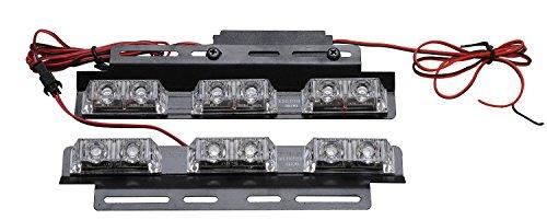 LED Voiture Car Avertissement 6modes flash 12V 6W de danger de sécurité d'urgence de la torche électrique Grille Du précipité de la plate-forme Strobe Light Lamp Bar KM318 personalizzare