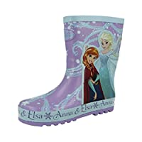 Girls Infant Disney Frozen Elsa Anna Character Peppa Pig Glitter Wellington Rain Snow Boot Shoe Size 4-12
