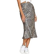 Faldas plisadas de cintura alta. ShiFan Mujer De Alta Cintura Elástica  Bodycon Midi Lápiz Falda con Estampado ... c2be1a182d1f