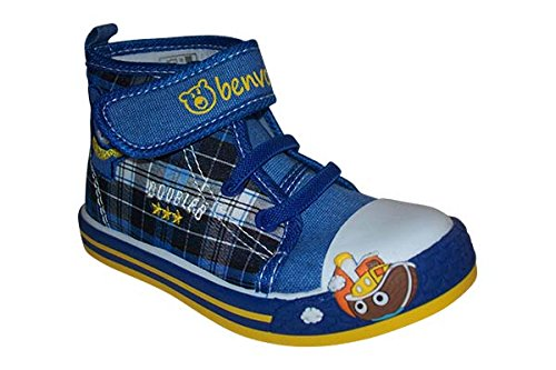 Benvolino Chaussons pour enfant avec fermeture Velcro Bleu - Bleu