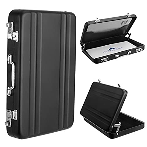 Woodmin Premium Aviation Aluminum Case/ Holder for Instax Mini Films/ Business Name Cards/ ID Cards/ Credit Cards(Black)