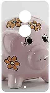 Pink Piggy Bank Back Cover Case for Motorola Moto X2