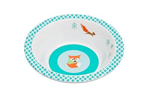Lässig Dish Bow Melamin Schüssel aus 100% Melamin BPA-frei und rutschfest, Little Tree, Fox