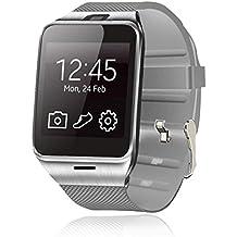 Vovotrade® Fotocamera GV18 intelligente della vigilanza di Bluetooth GSM NFC TF card da polso (bianco)