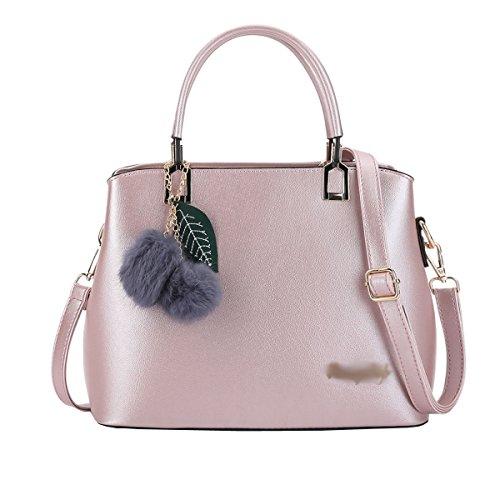 DISSA S885 neuer Stil PU Leder Deman 2018 Mode Schultertaschen handtaschen Henkeltaschen,290×120×230(mm) Rosa