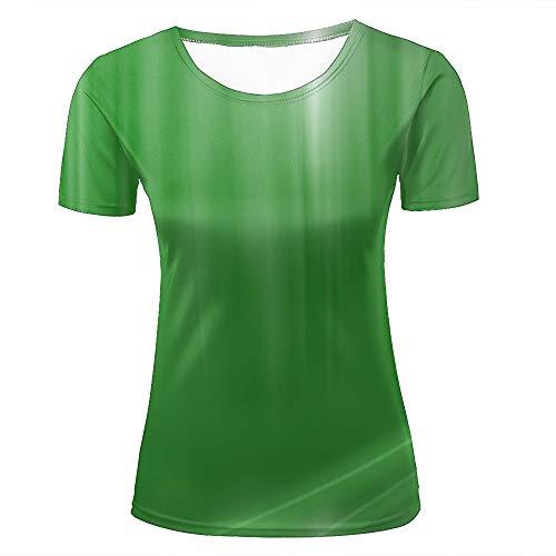 Womens 3D Printed T-Shirts Healthy Green Gradient Creative Novelty Short Sleeve Tops Tees XL (Volcom-zeichen)