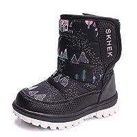 Cotouke Kids Snow Boots Waterproof Girl