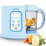 Robot de cocina Eccomum Cocina al Vapor Procesador de Alimentos para Bebés Multifunción, vaporera y batidora, LCD, Apagado Automático, para cocinar al vapor, descongela y calienta