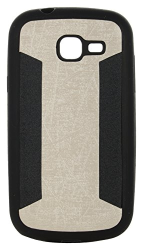iCandy™ 2 Color Soft Lather Finish Back Cover For Samsung Galaxy Trend GT- S7392 - White  available at amazon for Rs.115
