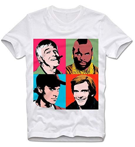 T-Shirt The A Team Mr T On The Jazz Hannibal Faceman Popart Pop Art XL