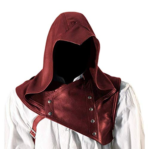 Mcaishen Herren Performance Kostüme New Renaissance Cosplay Kostüm Pu Pi Schauspieler Assassin Dress Up Hut Mode Vintage Mittelalterlichen - Red Assassin Kostüm