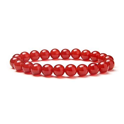 SUNNYCLUE Natural auténtica rojo Pulsera de...