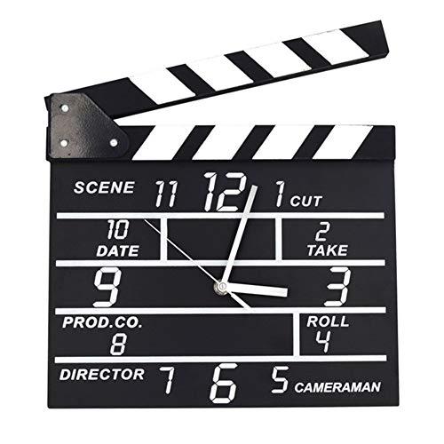 Wanduhren Holz Film Klöppel Glocke Retro Elektronische Stille Holz Uhr for Home Office Wohnzimmer Schlafzimmer Dekoration (27,5 cm * 30,2 cm)