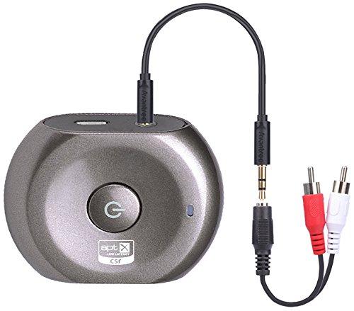 Avantree Saturn Pro aptX Transmetteur et récepteur Bluetooth 2en 1 Faible latence Adaptateur audio sans fil de 3,5mm pour enceintes astéreo, écouteurs ou TV