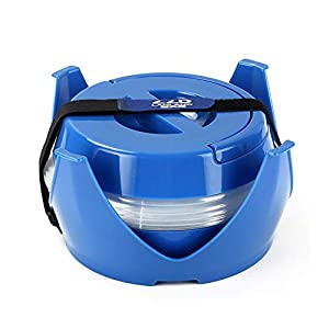 Lzhy 5.5L Car Falten & Portable Eimer, Outdoor Retractable & Telescopic Kettle mit Base, Camping, Self-Driving und Storaging,Blue
