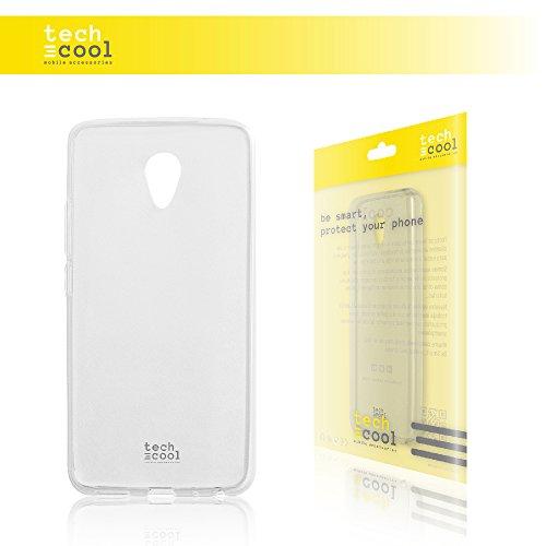 TechCool Meizu M5 Note Hülle, SchutzHülle Premium Soft Flex TPU Silikon Transparent für Meizu M5 Note l Case, Cover, Handy [Ultra Dünn 1,5mm] [Kratzfest] (Klar)
