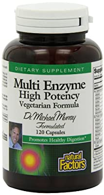 Natural Factors, Multi Enzyme High Potency, Vegetarian Formula, 120 Capsules by Natural Factors