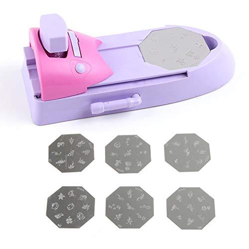 Delleu Nagel Kunst Stamping Kit Nail Art Drucker Zeichnung Druckmuster Stempel Maniküre Maschine...