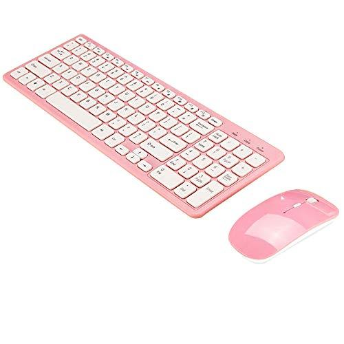 Hanbaili Set Tastiera e Mouse Wireless-Tastiera e Mouse Tastiera Mouse Set Tastiera Mouse Combo Ricreazione cablata duratura