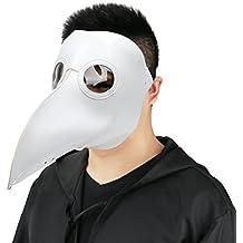 Cusfull Maschera Becco Maschera Halloween Steampunk Costume dottore maschera di cuoio elaborazione maschera intera Masquerade Mask