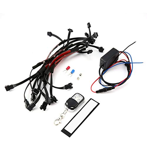 10pcs 12V DC Motorcycle RGB LED Under Glow Neon Strip Lamp Glow Light Kit Flexible with Remote Control Car Styling Light