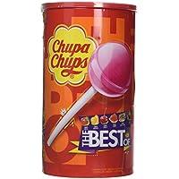 Chupa Chups Caramelo con Palo de Sabores Variados - Tubo Icon Pack de 100 unidades de 12 gr/ud
