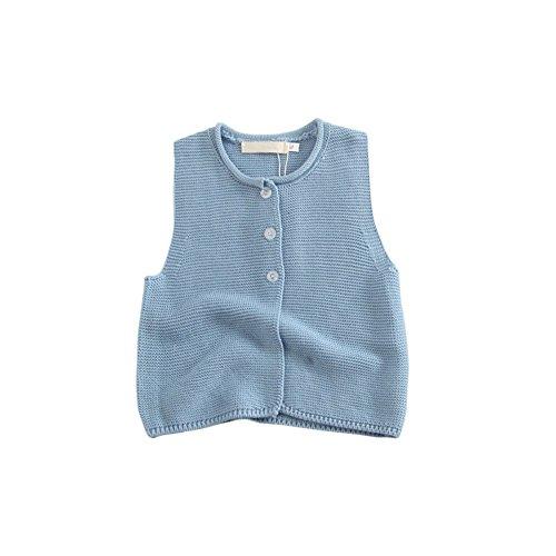 Brightup Baby Strick Pullover Weste, Säuglings Mädchen Strick ärmellose Strickjacke, Herbst Strickwaren