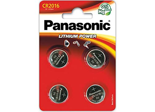 Panasonic CR2016 3 V Batterie au Lithium (Lot de 4)
