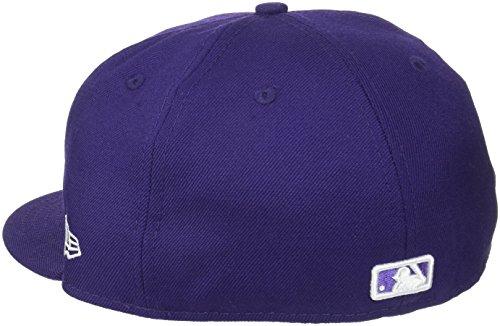 New Era Erwachsene Baseball Cap Mütze Mlb Basic NY Yankees 59Fifty Fitted purp/whi