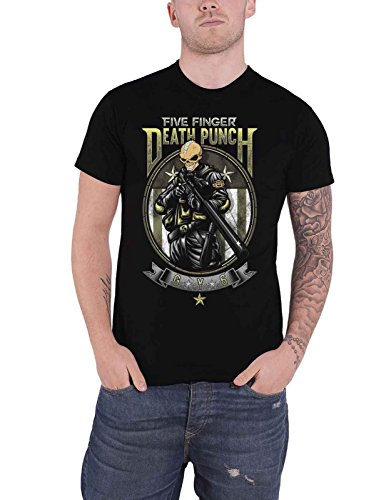 Five Finger Death Punch T Shirt Sniper Band Logo Nue offiziell Herren -